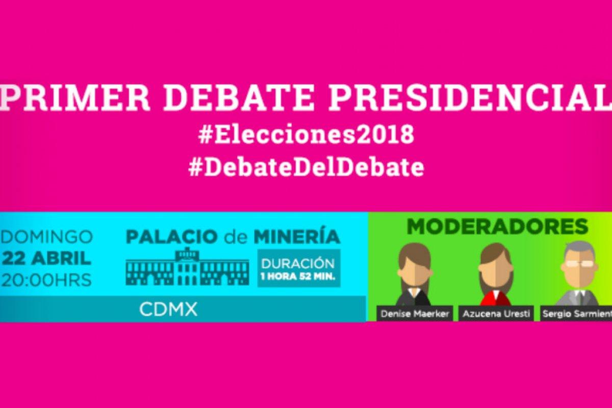 Foto: Debate Presidencial / Facebook: @INEMexico