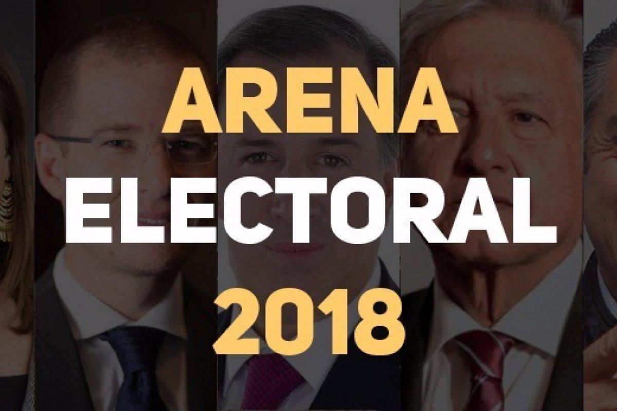 Arena Pública presenta los resultados de las encuestas presidenciales 2018 hoy 10 de mayo.