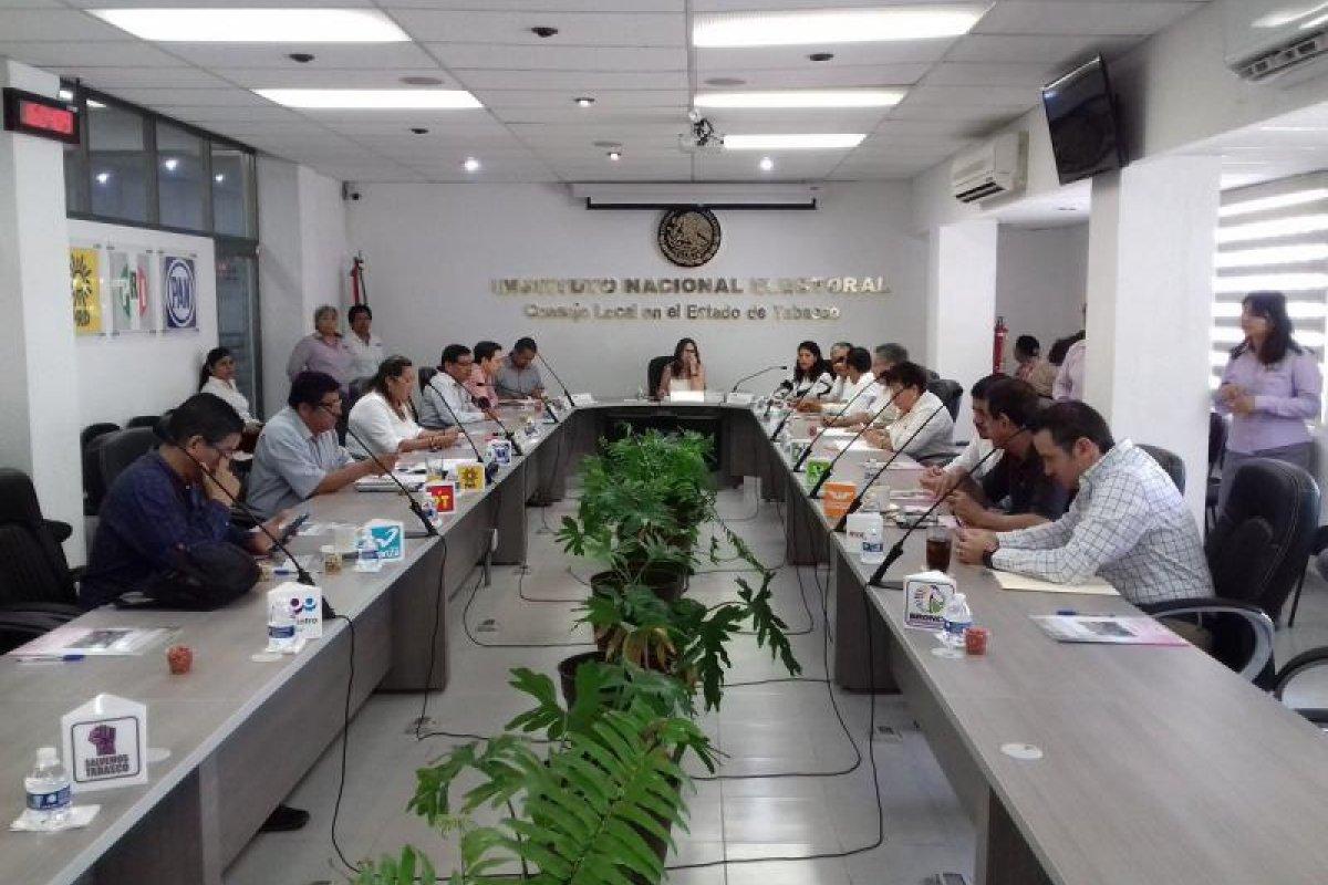 Sesión extraordinaria en Consejo Local de Tabasco Foto: @INE_TABASCO