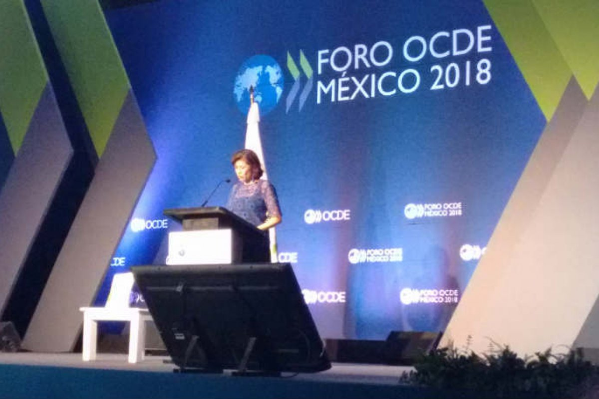 Gabriela Ramos en el Foro OCDE México 2018. (@ictandlaw)