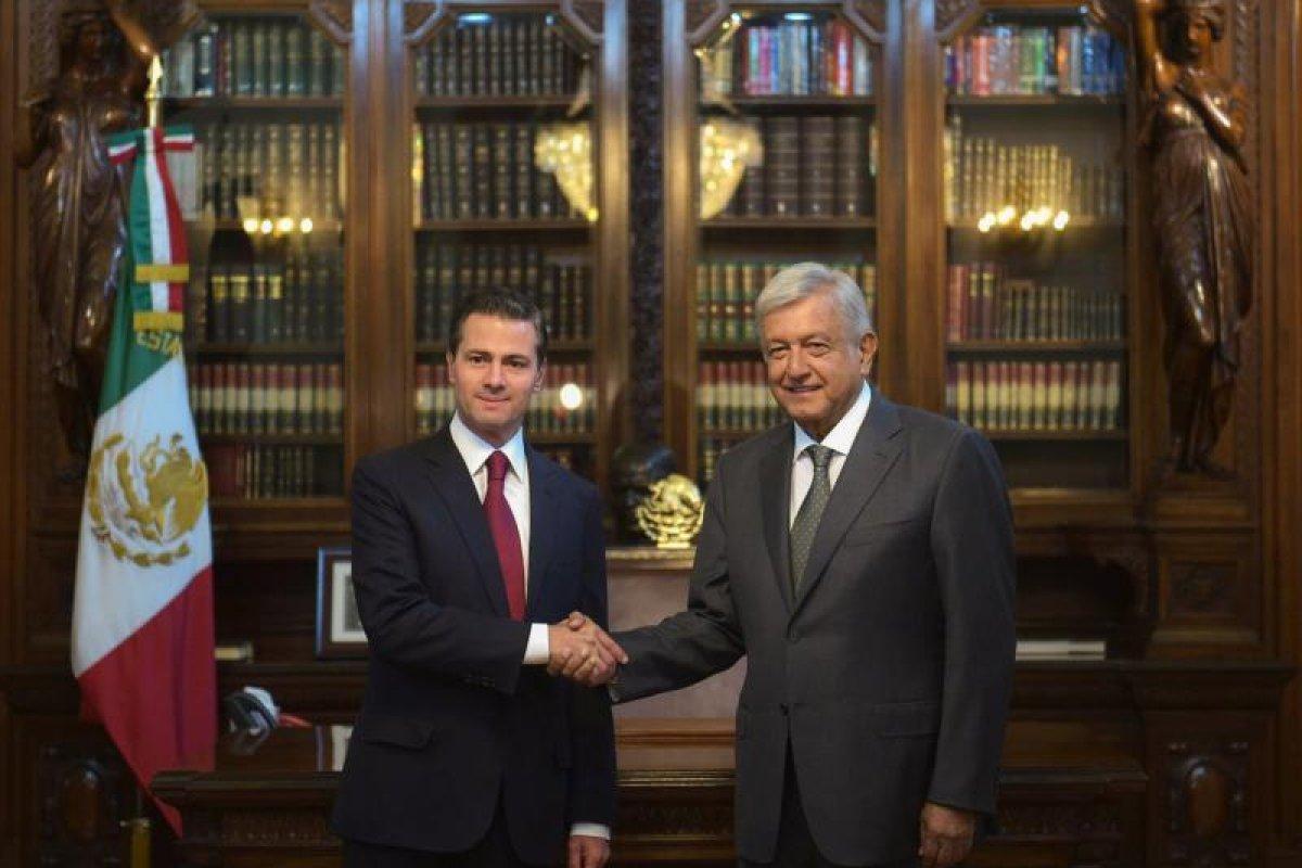 Reunión de Peña Nieto y López Obrador en Palacio Nacional Foto: @PresidenciaMX