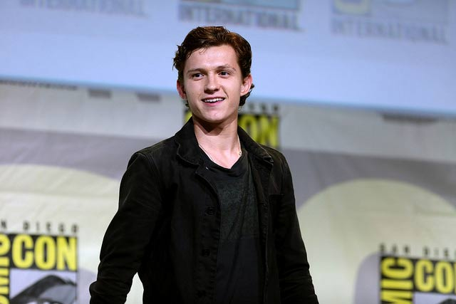 Tom Holland, actor de Spiderman en la Comic Con de San diego en 2016.