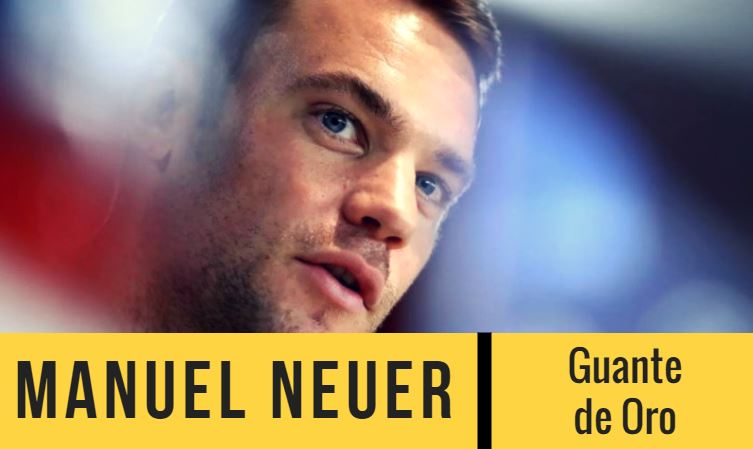 manuel neuer es el favorito para ganar el  guante de oro en el mundial 2018